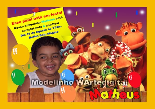 Convites Infantis Cocoricó