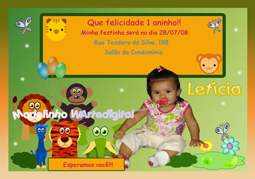 Convites Infantis Floresta Encantada