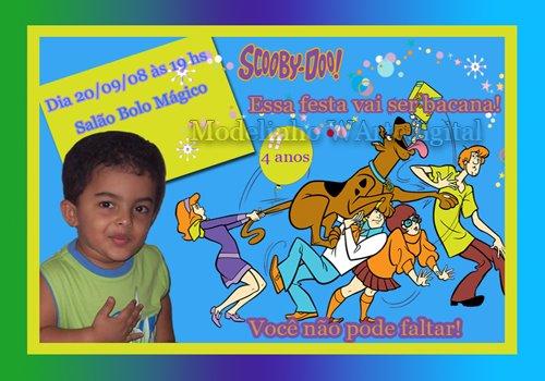 Convites Infantis Scoobydoo