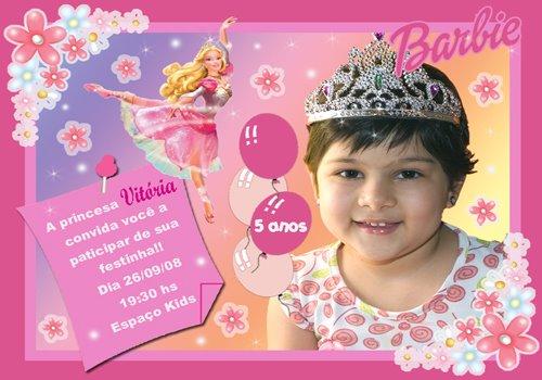 Convites Infantis Barbie