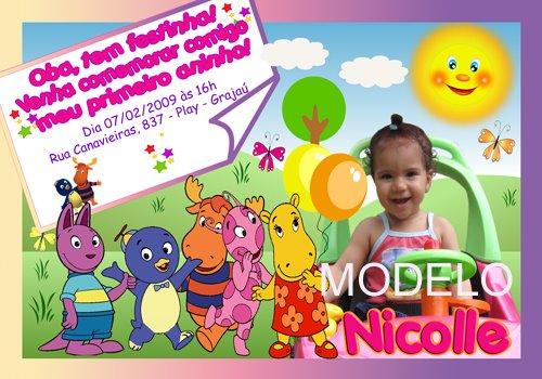 Convites Infantis para meninas