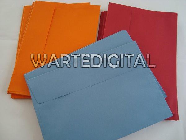 Envelopes Vários Tamanhos e cores