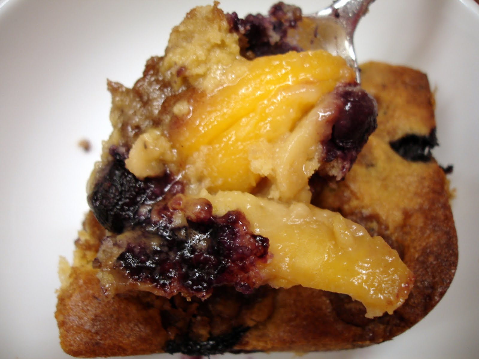 Sugar Roasted Peach And Blueberry Bacon Infused Buckle Recipe ...