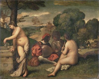 Ingres, un nouveau Picasso? en tout cas un érotomane Titien_Concert+champetre,+Louvre
