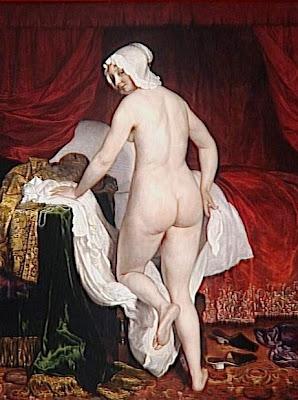 la plus belle peinture hollandaise de femme nue Van+loo+jacob+1614-1670+La+jeune+femme+se+couchant,+dit+Le+Coucher+%C3%A0+l%27italienne