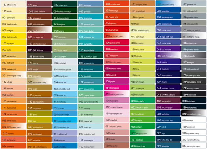 outrageous paint color chart