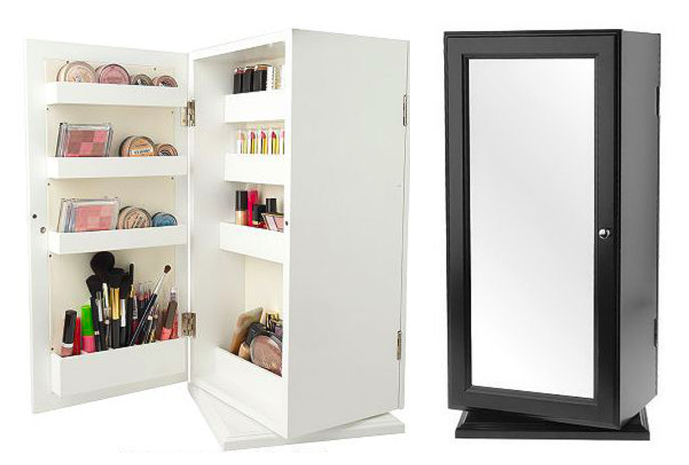 Here is another one by lori greiner which is a standing mirror cabinet