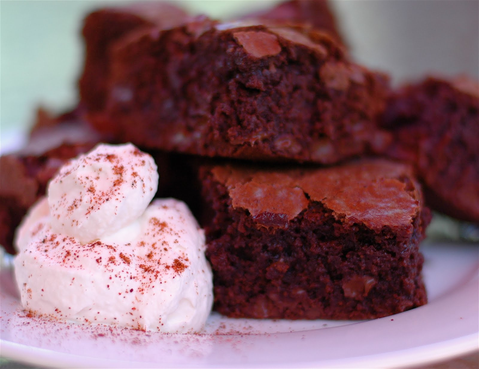La Bella Cook: Ancho Chile Brownies with Cinnamon Cream