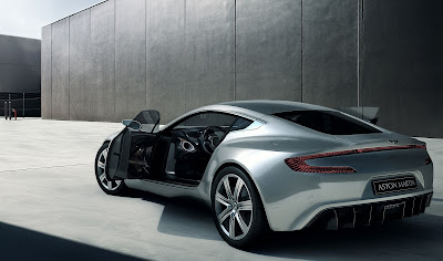 2010 Aston Martin One-77 Rear Angle View
