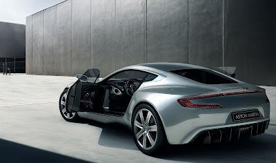 2010 Aston Martin One-77 Rear Angle View