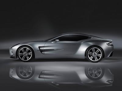 2010 Aston Martin One-77 Side View