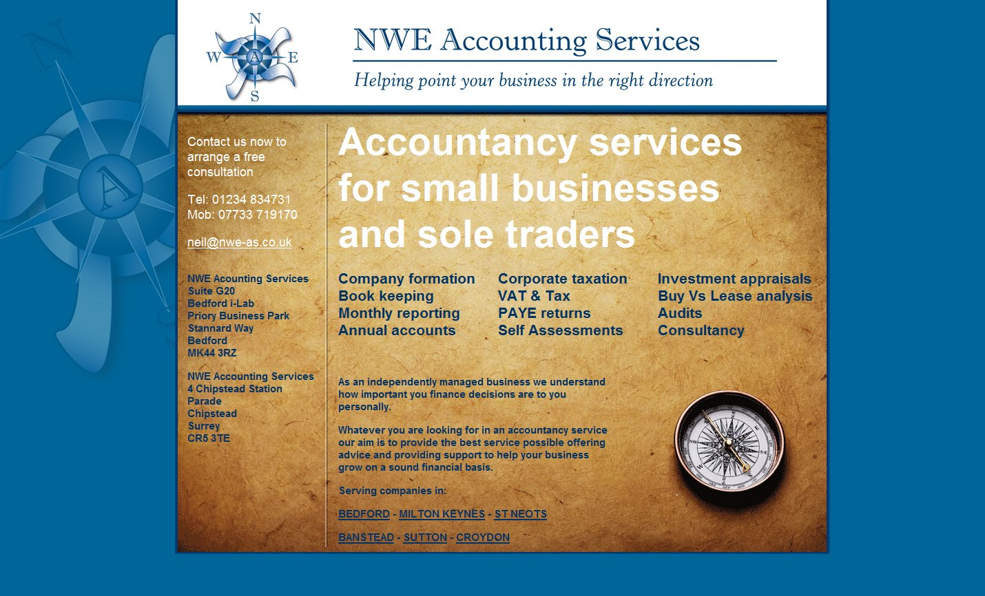 Squadradesign nwe accounting services we have just launched the new website for bedford based accountant nwe as nweaccountant along with their new logo design and business card design reheart Images