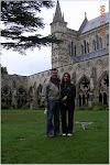 Mom and Dad at Salisbury Cathedral