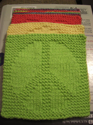 A Knitting Mountain Peace Washcloth Pattern