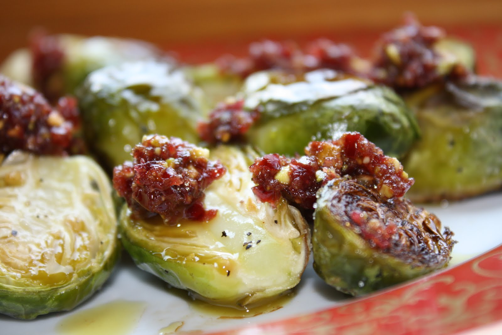 ... ' Kitchin': Roasted Brussels Sprouts with Cranberry Pistachio Pesto