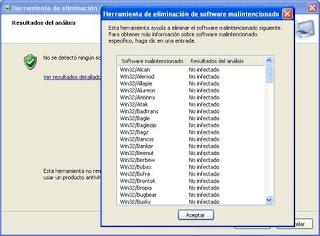 Eliminacion de software malintencionado