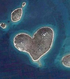 Isla con forma de corazón