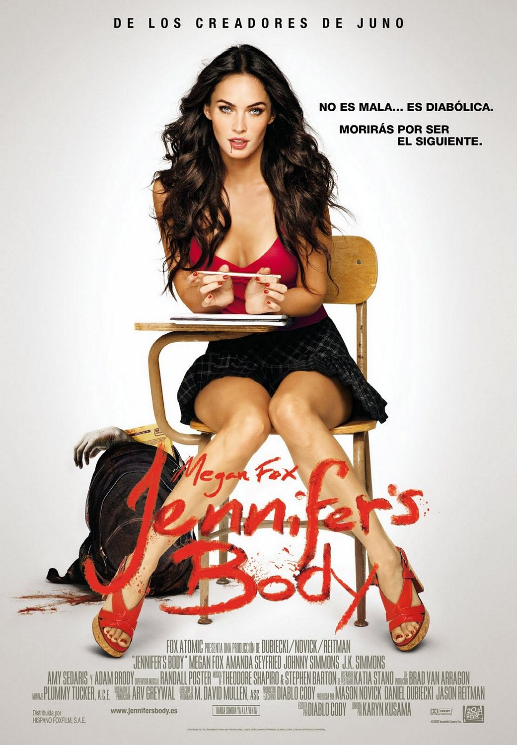 El nuevo poster internacional de Jennifer's Body con Megan Fox