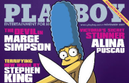 Marge Simpson en la portada de la Revista Playboy
