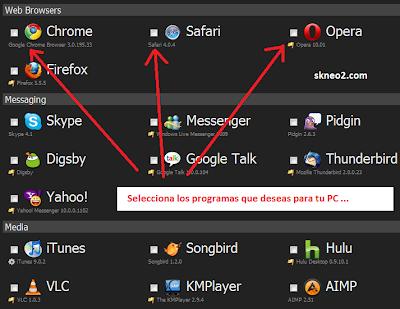 Programas para una PC recién formateada - selección