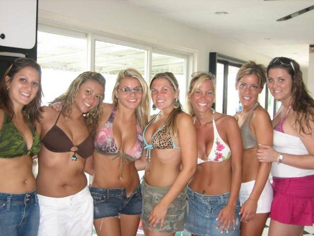 These chicks love to party on south padre island. It is no secret.