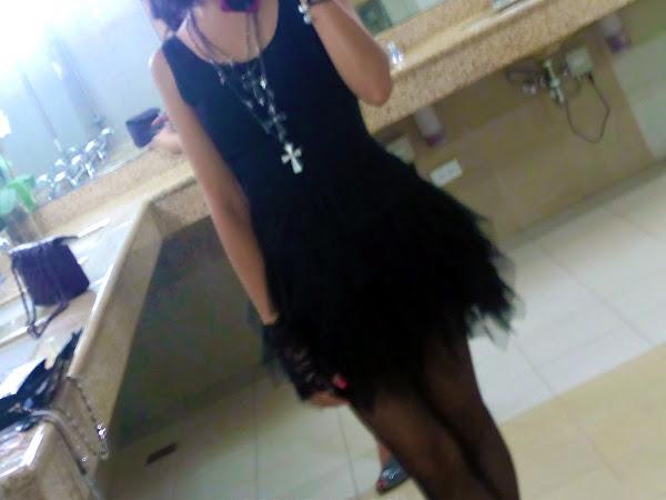 Black Swan-esque and fuchsia lips.