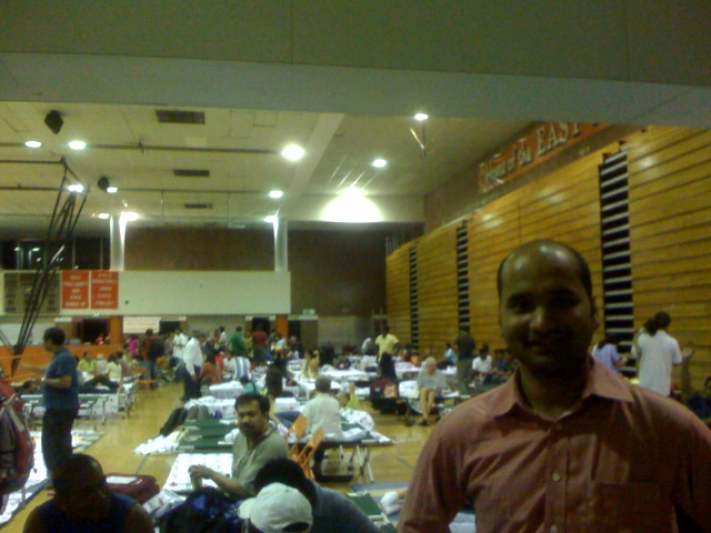 Night at the Relief Camp in US