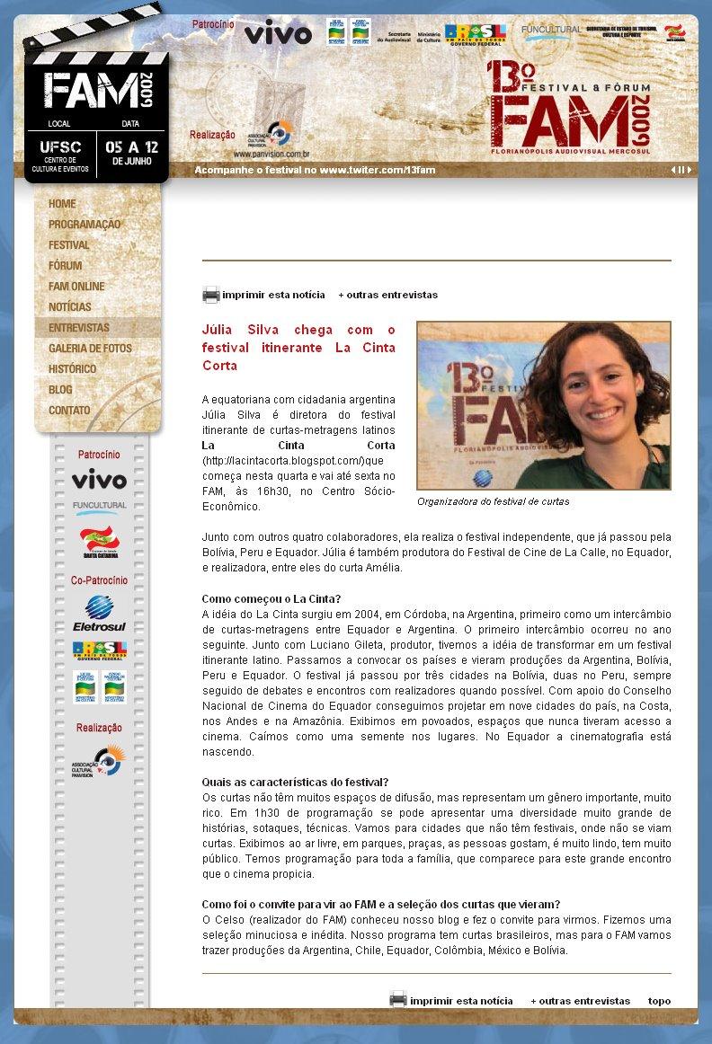 Prensa oficial del FAM 2009
