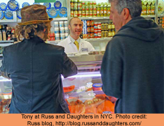 bourdain russ daughters nyc