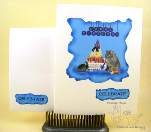 Picture of handmade Pets Celebrating Birthday Card