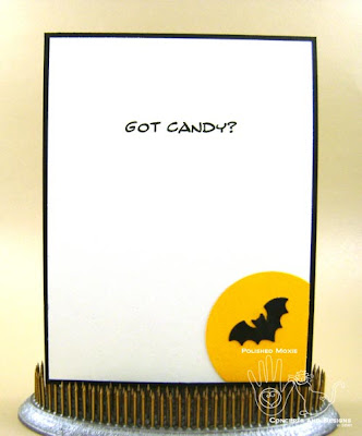 Picture of inside of Halloween card