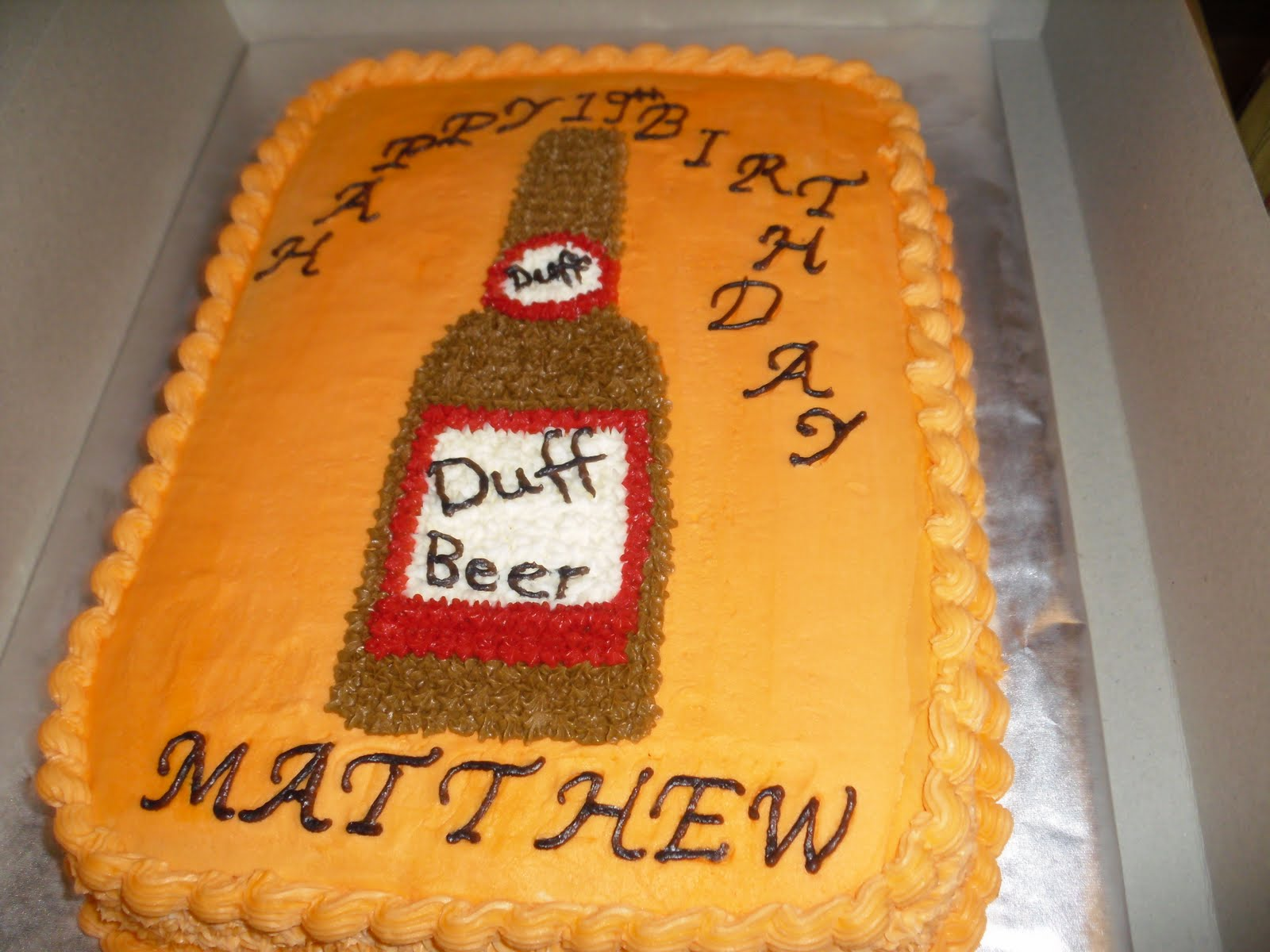 Beer Cake Design Ideas : Cake Designs by Steph: Duff Beer cake.