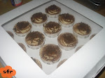 TIRAMISU CUPCAKES in clear window box