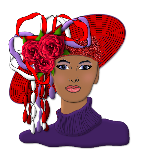 Free Clipart Black Women Wearing Hats Wrapped For Life...