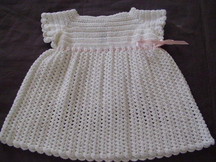 Vestidos de bautismo tejidos al crochet - Imagui