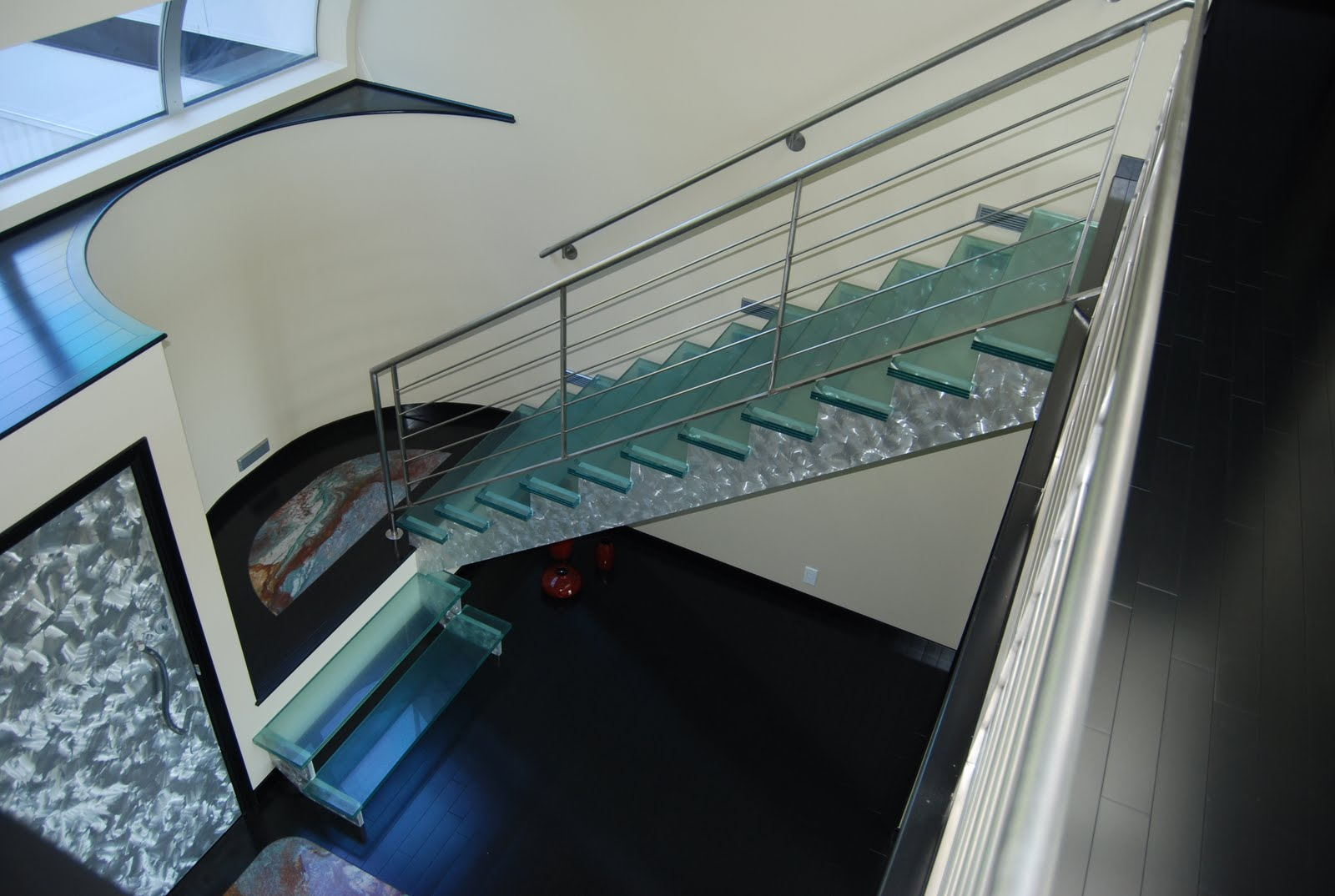 Seattle Glass Block Custom Staircase With Laminated Glass Treads