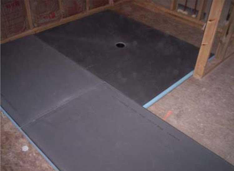 floor level of wedi fundo shower systems without recessing the subfloor