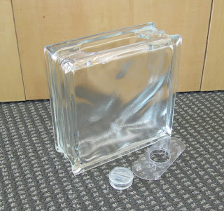 Glass block banks make great gifts and wonderful holiday - Glass block decoration ideas ...