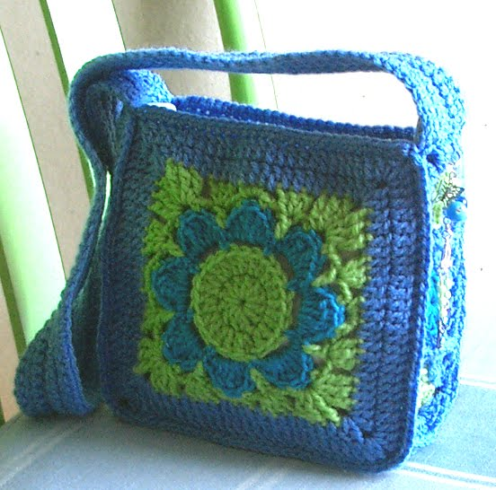 Crochet Bag For Girl : Groovy Textiles: Girls Crochet Bag