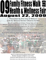 Poster: Hilliard Health Fair & Fitness Walk