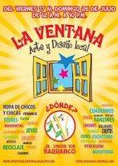 FERIA LA VENTANA::arte y diseño local::del viernes 17 al domingo 26 de Julio de 12 am a 10 pm ::