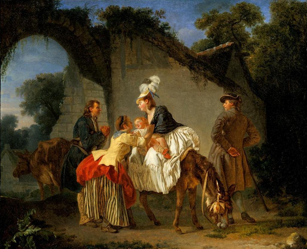 Aubry Etienne Les Adieux 224 La Nourrice 1776 1777 Oil