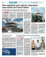 Lisez l'article du Journal de l'Ile de la Réunion du 11 novembre!