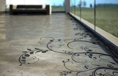 flynxs concrete art floor Transparent House