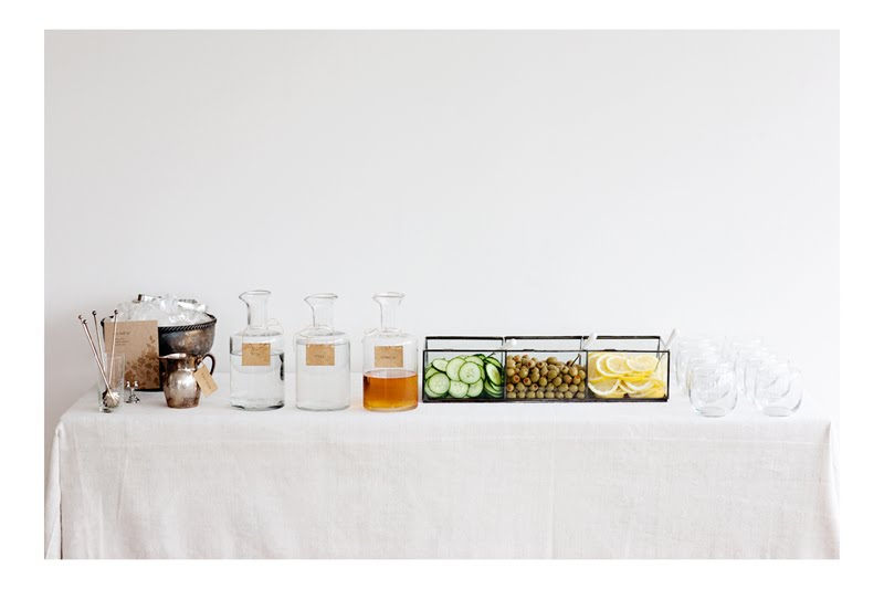 Sunday Suppers DIY Martini Bar