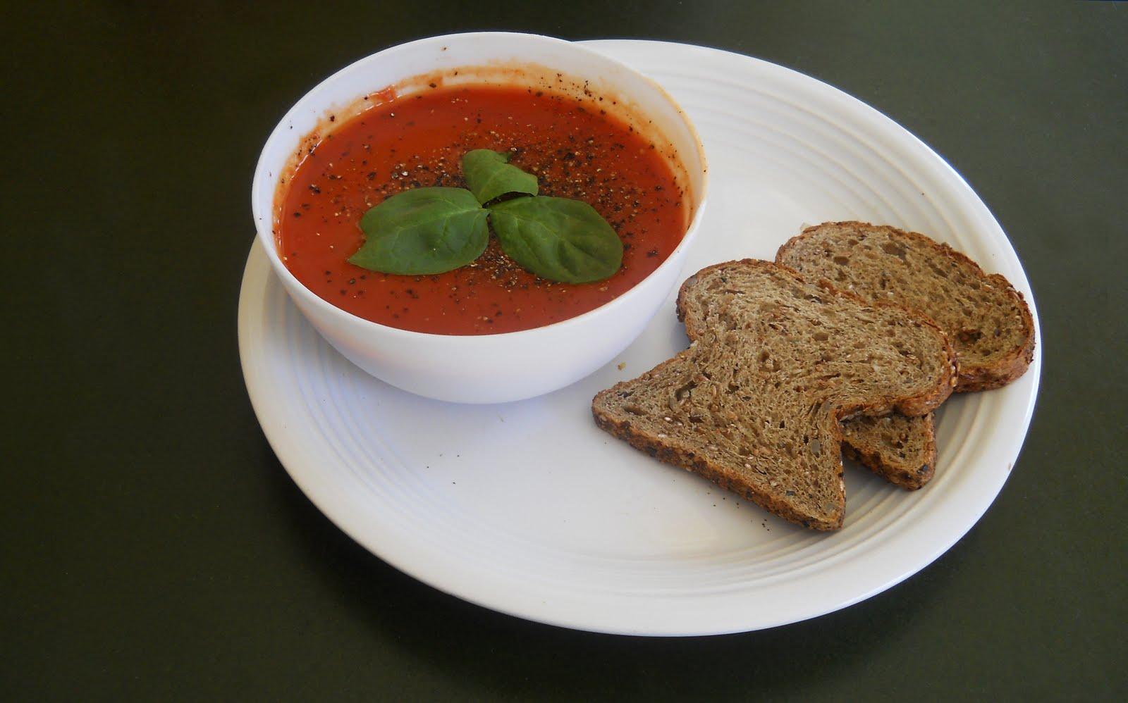 Café VegNews: Tomato Soup, Fluffy Bread