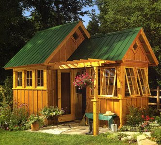 This is the shed we fell in love with. Ours is modification but you can still see the bones of this design in it.