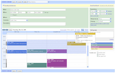 Google Calendar Sneak Preview
