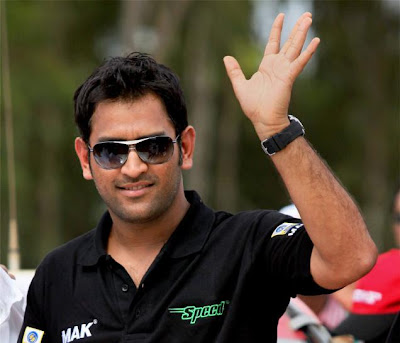 MS Dhoni Black Tshirt wallpapers