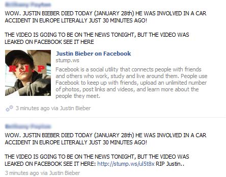 JUSTIN BIEBER DIED TODAY (DATE) HE WAS INVOLVED IN A CAR ACCIDENT IN EUROPE